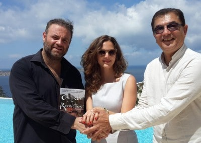 Joseph Calleja and Philipa Bianchi with Feroze